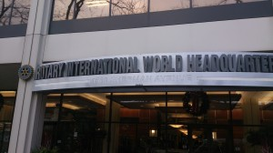 "Outside the building. This is the Rotary International World Headquarter or short ""One Rotary Center"""