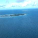 Blick aus dem Flugzeug auf die Insel