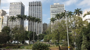 View of the park and the skyscrapers